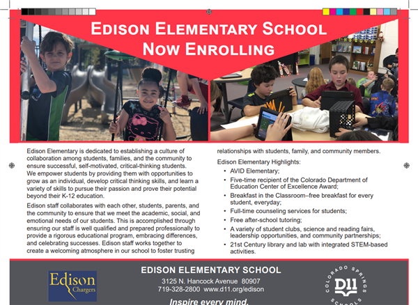 Edison Now Enrolling