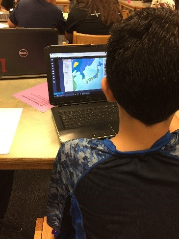 Student Researching Asia