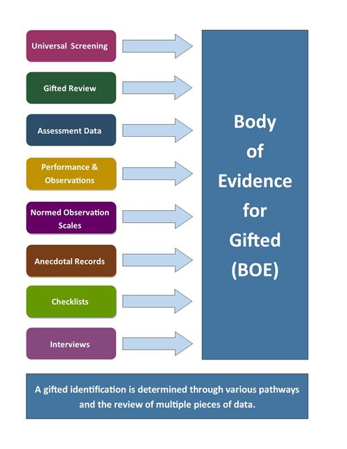 Body of Evidence for Gifted chart