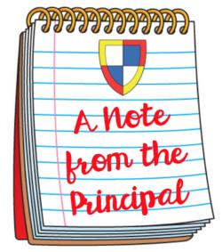 A Note From The Principal