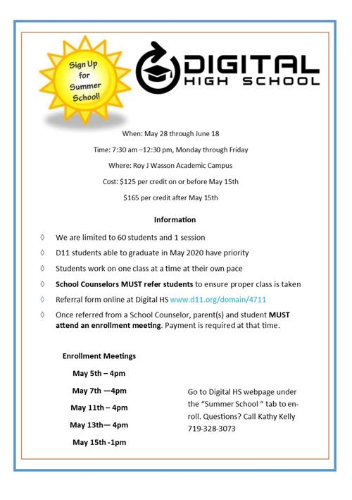 summer school digital flyer