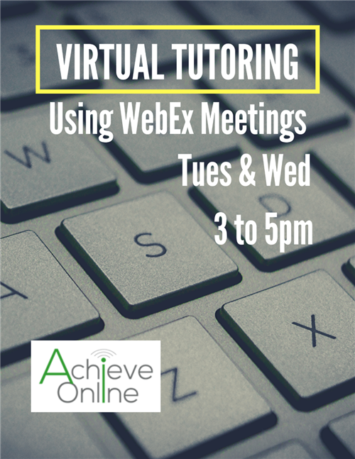 virtual tutoring flyer
