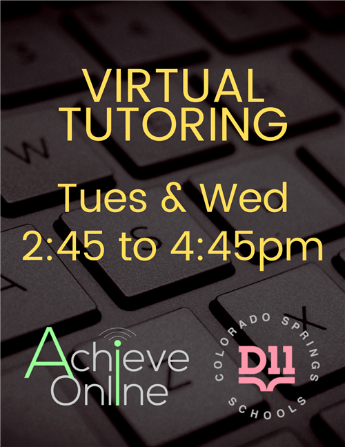November Virtual Tutoring flyer