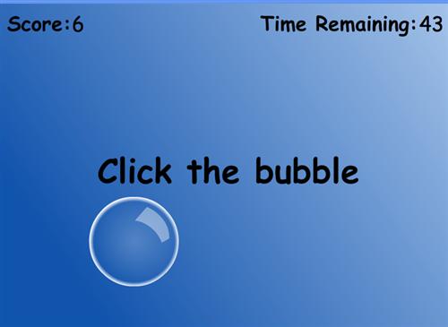 Click the bubble