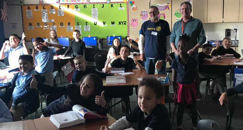 n colorado springs rotary club presents each 3rd grader with a new dictionary
