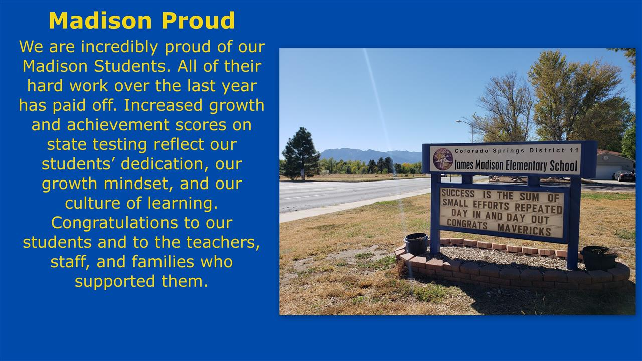If Madison Were Colorado Springs Wed Be >> Madison Elementary School Homepage